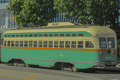 Photograph - Old Trolley Car by James Canning