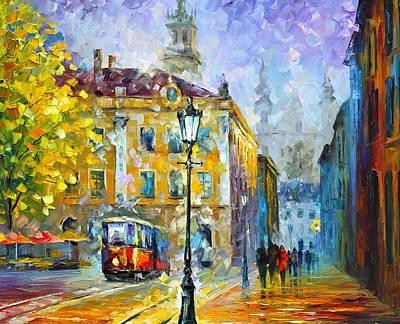 Trolley Painting - Old Trolley by Leonid Afremov
