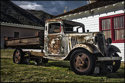 Photograph - Old Truck Along The Way by Erika Fawcett