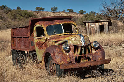 Break Of Day Photograph - Old Truck At Mining Ghost Town Of Ruby by Witold Skrypczak