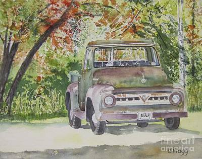Painting - Old Truck by Carol Flagg