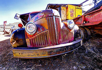 Rabbit Hunting Photograph - Old Truck Gold King Mine Az. by James Steele