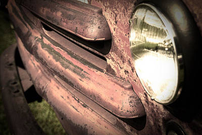 Vintage Automobile Photograph - Old Truck by Heather Allen