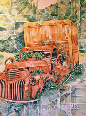 Painting - Old Truck by Lance Wurst