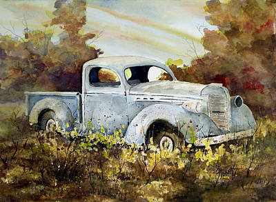 Painting - Old Truck by Sam Sidders