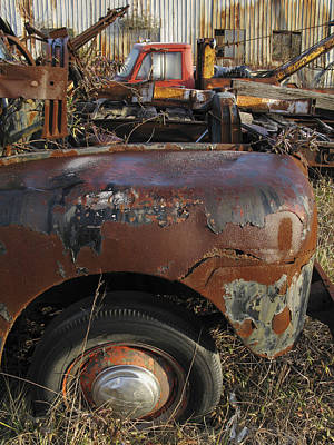 Photograph - Old Trucks by Melinda Fawver