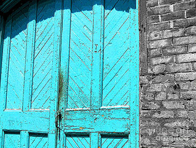Photograph - Old Turquoise Door by Nina Silver