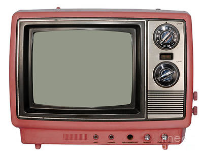 Vintage Tv Set Art Print