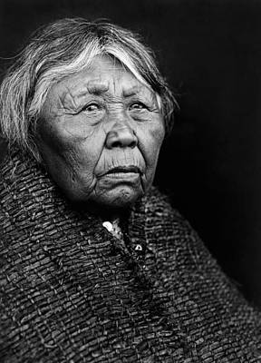 Gray Hair Photograph - Old Twana Woman Circa 1913 by Aged Pixel