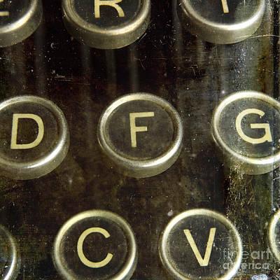 Mechanism Photograph - Old Typewrater by Bernard Jaubert