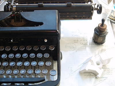 Photograph - Old Typewriter by Robin Maria Pedrero