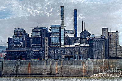 Photograph - Old Union Electric Plant In St. Louis Mo. by Peggy Franz
