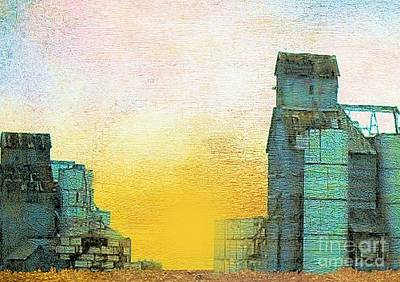 Old Used Grain Elevator Art Print