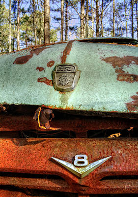 Photograph - Old V8 Ford Truck by Greg Mimbs