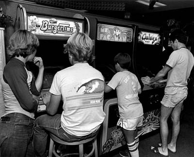 Vintage Video Game Photograph - Old Video Game Fun by Retro Images Archive