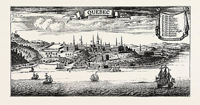 Quebec Drawing - Old View Of Quebec, From Popple S American Atlas by Canadian School