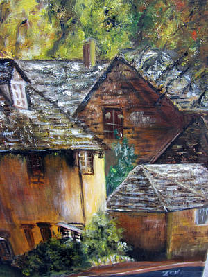 Painting - Old Village by Lucille  Valentino