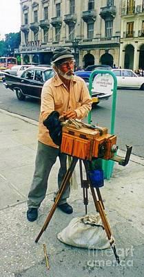 Old Vintage Photographer And Camera Original