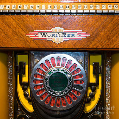 Photograph - Old Vintage Wurlitzer Jukebox Dsc2809 Square by Wingsdomain Art and Photography