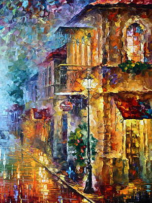Russia Painting - Old Vitebsk Part 2 - Right by Leonid Afremov