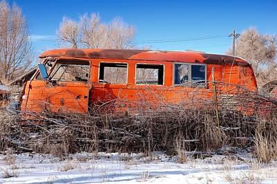 Scrap Photograph - Old Volkswagen Bus by Jim Hughes