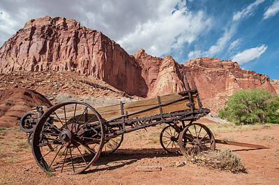Capitol Reef Photograph - Old Wagon, Fruita, Capitol Reef by Michael Defreitas