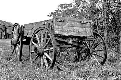 Another Time Photograph - Old Wagon by Mike Flynn