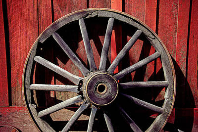 Spokes Photograph - Old Wagon Wheel by Garry Gay