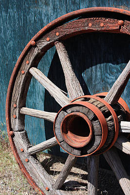 Photograph - Old Wagon Wheel by Jennifer Muller