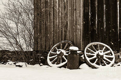 Photograph - Old Wagon Wheels by Brad Marzolf Photography