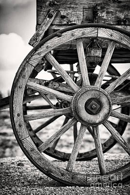 Wagon Photograph - Old Wagon Wheels by Jane Rix