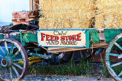 Photograph - Old Wagon With Straw by Ben Graham