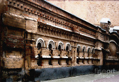 Pyrography - Old Wall 2 by Evgeniy Lankin