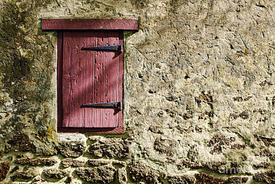 Red Farmhouse Photograph - Old Wall And Door by Olivier Le Queinec
