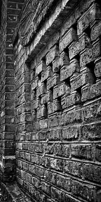 Old Wall Architectural Detail Art Print by Andrew Crispi