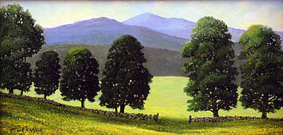 Vermont Landscape Painting - Old Wall Old Maples by Frank Wilson