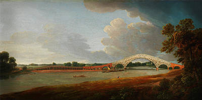 Painting - Old Walton Bridge by Celestial Images