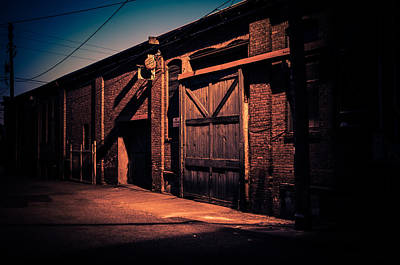 Old Warehouse Building At Night In Georgetown Seattle Art Print by Brian Xavier