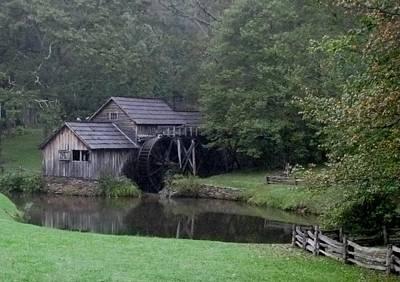Old Water Mill Art Print