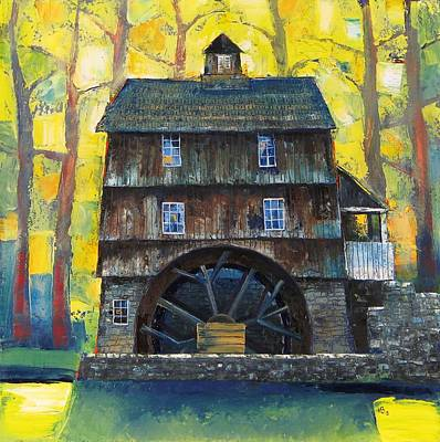 Old Water Mill Art Print