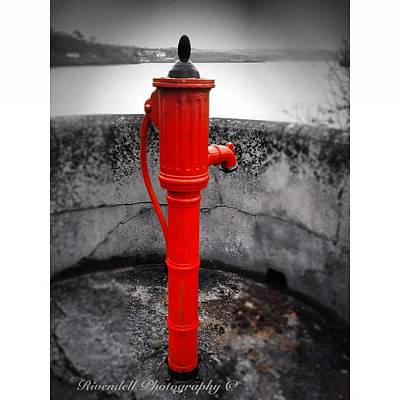 Old Water Pump Kinsale Art Print by Maeve O Connell