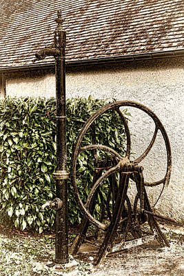 Water Fountain Photograph - Old Water Pump by Olivier Le Queinec