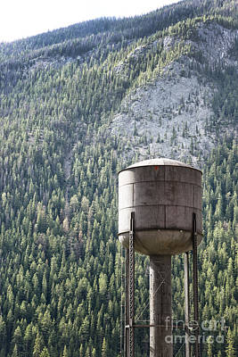 Photograph - Old Water Tower In The Rockies by Sandra Cunningham