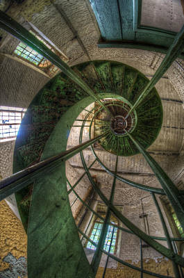 Old Water Tower Perspective  Art Print by Nathan Wright