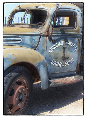 Photograph - Old Water Truck by Mary Jane Utley