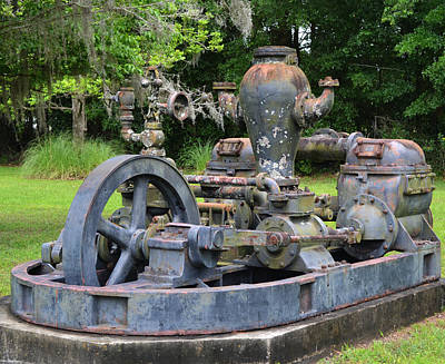 Photograph - Old Water Works Pump Gainesville Florida by rd Erickson
