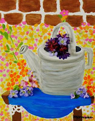 Painting - Old Watering Can by Celeste Manning