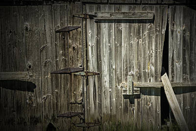 Photograph - Old Weathered Barn Door by Randall Nyhof