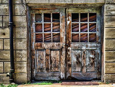 Old Weathered Doors Art Print