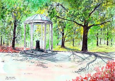 Old Well Chapel Hill Art Print
